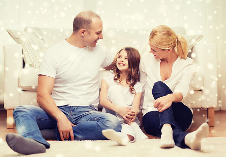 familia cuando ha adoptado al hijo de su pareja